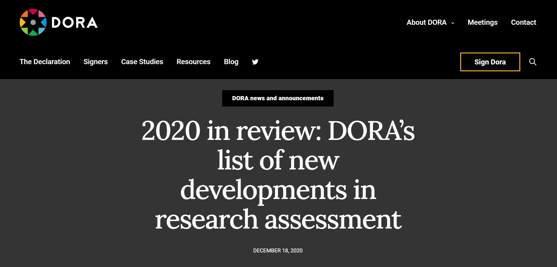 On DORA's list
